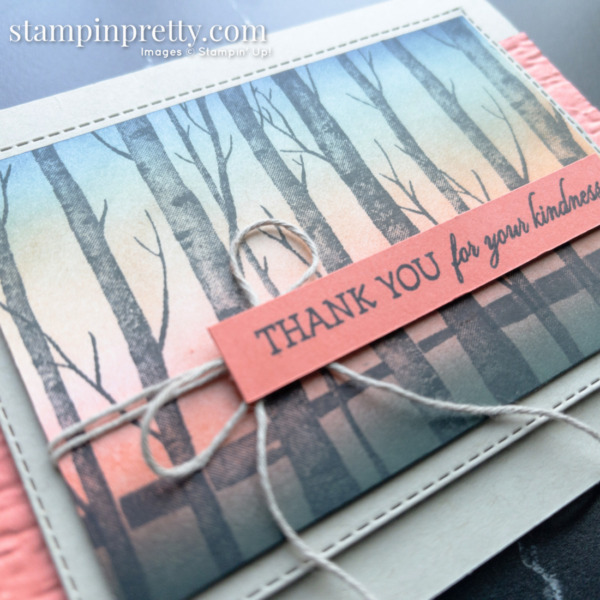Create this card using Blending Brushes and the Welcoming Woods Stamp Set by Stampin' Up! Card by Mary Fish, Stampin' Pretty Close Up