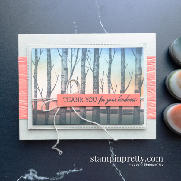 Create this card using Blending Brushes and the Welcoming Woods Stamp Set by Stampin' Up! Created by Mary Fish, Stampin' Pretty