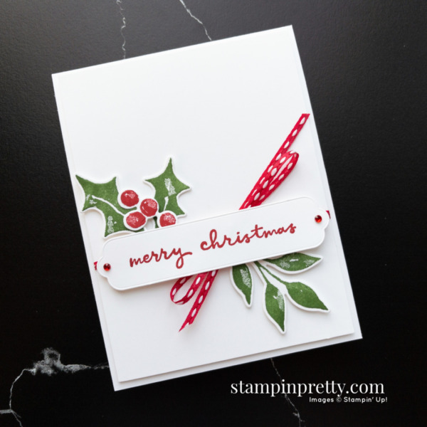 Create this card using Christmas Season and Christmas to Remember Bundles. Holiday cards created by Mary Fish, Stampin' Pretty