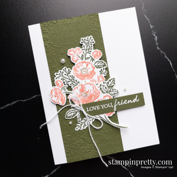 Create this card using the Shaded Summer Stamp Set and Summer Shadows Dies from Stampin' Up! Friend Card by Mary Fish, Stampin' Pretty