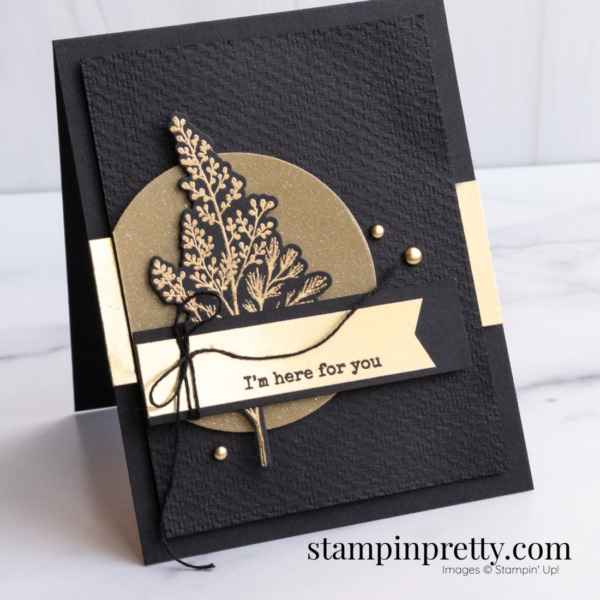 Create this card with the Beauty of Tomorrow Bundle from Stampin' Up! Created by Mary Fish, Sketch 28
