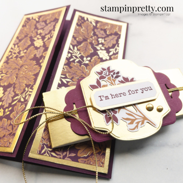 Create this gatefold card using Blackberry Beauty Suite Collection from Stampin' Up! Card by Mary Fish, Stampin' Pretty