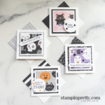 Four Frightfully Cute 3x3 Halloween Cards by Mary Fish, Stampin