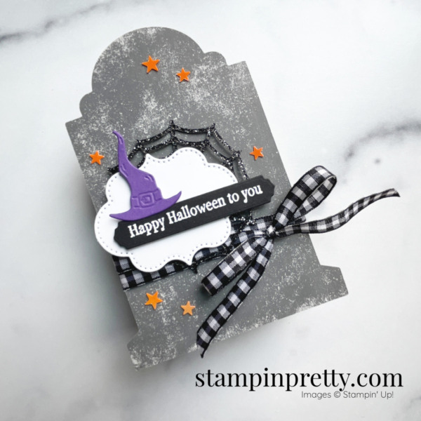 Happy Halloween Frightfully Cute Bundle and Tombstone Treat Boxes from Stampin' Up! Mary Fish, Stampin' Pretty Shop Online 24-7 Tulip Rewards