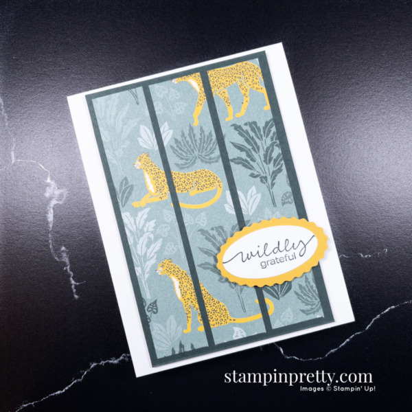 In the Wild - Wildy Grateful Card by Mary Fish, Stampin' Pretty