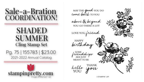 Mary Fish Stampin' Pretty Stampin' Up! Shaded Summer Stamp Set 155783 $23.00