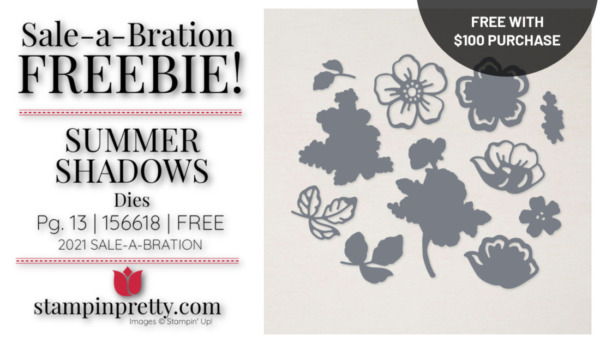 Mary Fish Stampin' Pretty Stampin' Up! Summer Shadows Dies 156618 Earn Free with $100 Purchase
