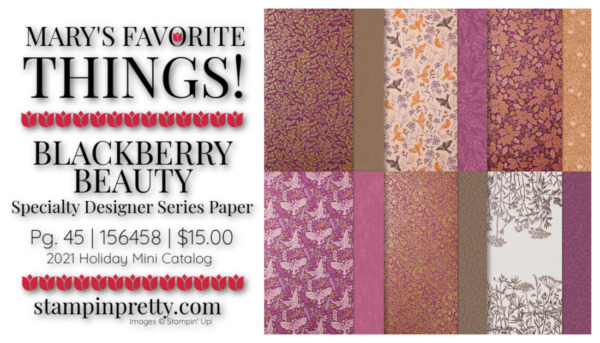 My Favorite Things Mary Fish Stampin' Pretty Stampin' Up! Blackberry Beauty Specialty DSP
