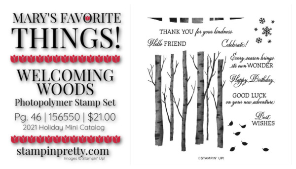 My Favorite Things Mary Fish Stampin' Pretty Stampin' Up! Welcoming Woods Photopolymer Stamp Set