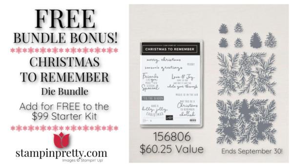 Stampin' Up! FREE Bundle Bonus CHRISTMAS TO REMEMBER Bundle Mary Fish, Stampin' Pretty