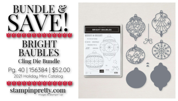 Bundle & Save 10% - Bright Baubles Bundle by Stampin' Up! Shop Online 24-7 with Mary Fish, Stampin' Pretty