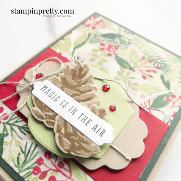 Create this Magic Is In the Air Card using the Christmas Season and Christmas to Remember Bundle from Stampin' Up! Mary Fish, Stampin' Pretty