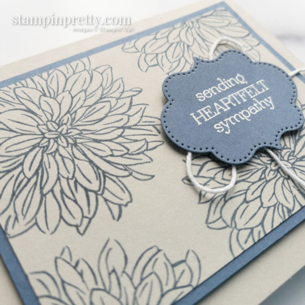 Create this Misty Moonlight and Sahara Sand Sympathy Card with Delicate Dahlias from Stampin' Up! Mary Fish, Stampin' Pretty