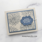 Create this Sympathy Card using the Delicate Dahlias Sale-a-Bration Stamp Set Free with $100 Purchase. Shop online 24 7 with Mary Fish, Stampin