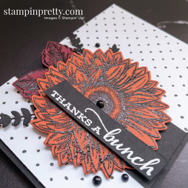 Create this card using the Celebrate Sunflowers Stamp Set and Sunflowers Dies from Stampin' Up! Card by Mary Fish, Stampin' Pretty