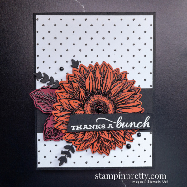 Create this card using the Celebrate Sunflowers Stamp Set and Sunflowers Dies from Stampin' Up! Card by Mary Fish Stampinpretty.com