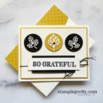Create this card using the Intricate Leaves Dies and Ornate Thanks Stamp Set by Stampin