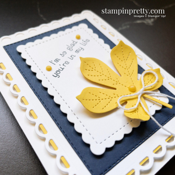 Create this card using the Love of Leaves Stamp Set and Stitched Leaves Dies by Stampin' Up! Card by Stampin' Pretty Mary Fish