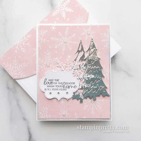 Create this card using the Whimsy & Wonder Suite Collection. Holiday Card by Mary Fish. Stampin' Pretty