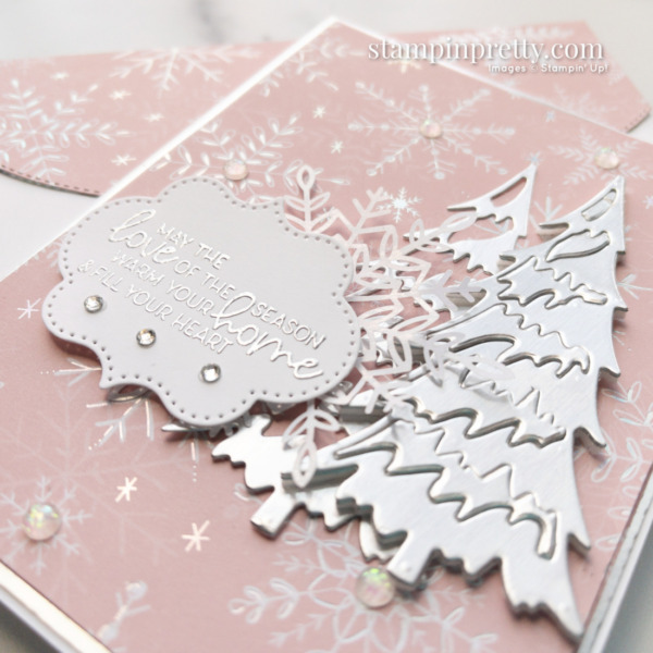 Create this card using the Whimsy & Wonder Suite Collection. Holiday Card by Mary Fish. Stampin' Pretty Silver Foil (1)