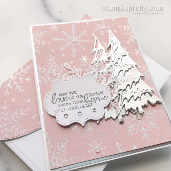 Create this card using the Whimsy & Wonder Suite Collection. Holiday Card by Mary Fish. Stampin' Pretty Slant