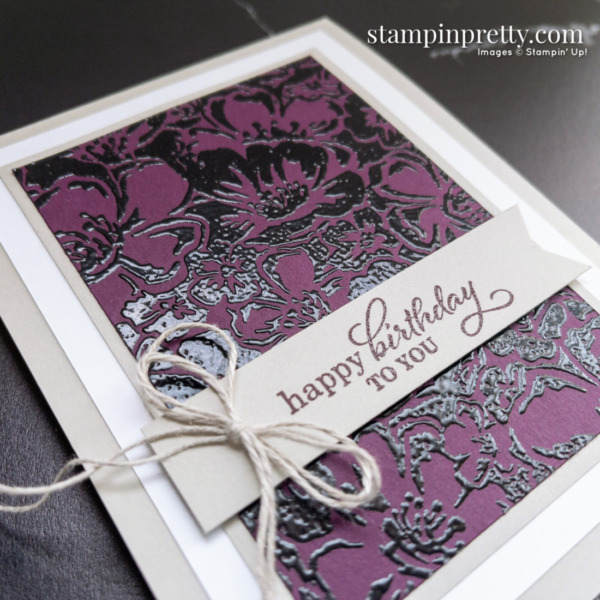 Create this card using the Wild Roses and Best Year Stamp Sets by Stampin' Up! Card by Mary Fish, Stampin' Pretty