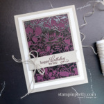 Create this card using the Wild Roses and Best Year Stamp Sets by Stampin