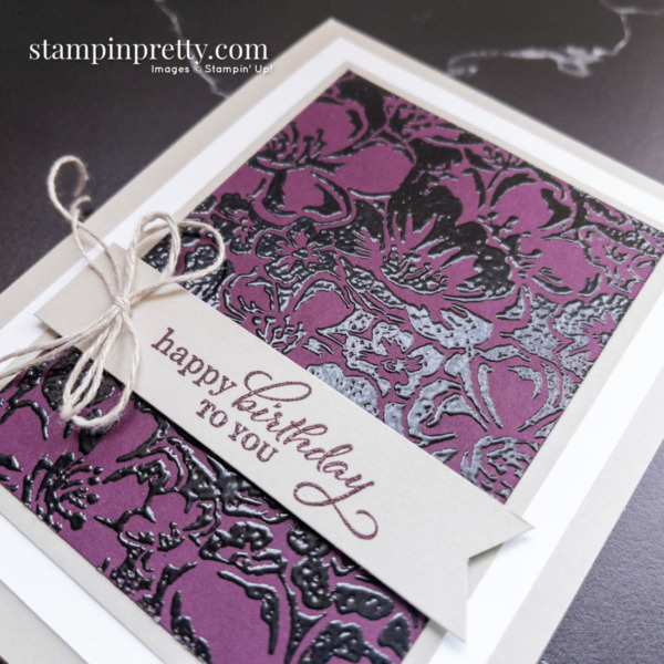 Create this card using the Wild Roses and Best Year Stamp Sets by Stampin' Up. Card by Mary Fish Stampin' Pretty
