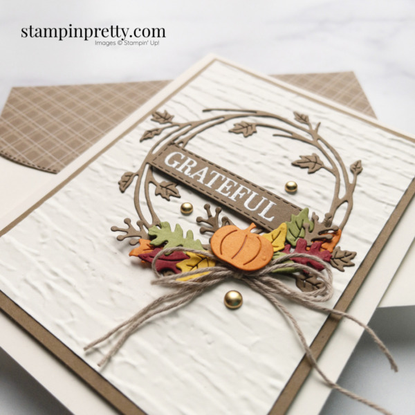 Create this fall card using the Sparkle of the Season Bundle from Stampin' Up! Shop Online 24-7 with Mary Fish, Stampin' Pretty