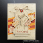 Create this fall-themed thankful card using the Stampin