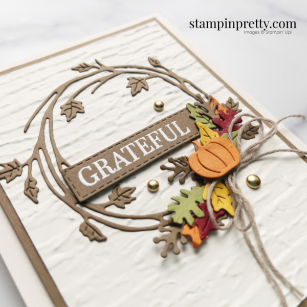 Create this grateful card using the Sparkle of the Season Bundle from Stampin' Up! Shop Online 24-7 with Mary Fish, Stampin' Pretty