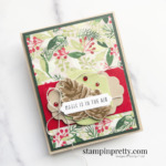 Create this holiday card using the Painted Season Suite by Stampin