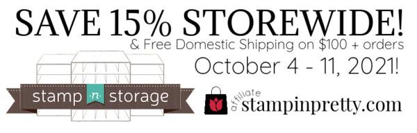 STAMP N STORAGE SALE 15% Storewide & Free Shipping