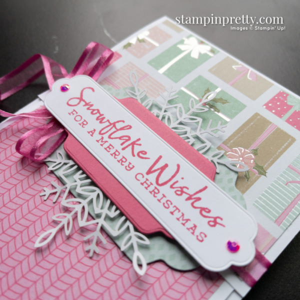 Create this Fun Fold Card using the Snowflake Wishes Stamp Set, Seasonal Labels Dies by Stampin' Up! Mary Fish Stampin' Pretty