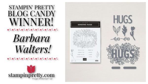Stampin' Pretty Blog Candy Winner - Barbara Walters