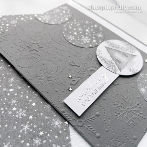 Wishing You the Best Peaceful Place Cabin Card Winter created by Mary Fish, Stampin' Pretty