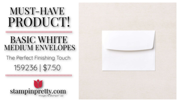Mary Fish Stampin' Pretty Stampin' Up! Must-Have Basic Medium Envelopes