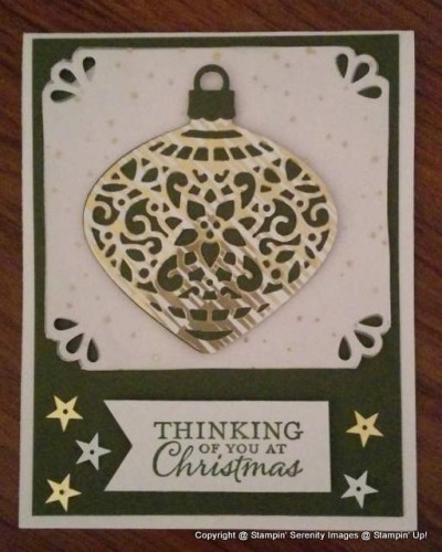Pals Paper Crafting Picks of the Week Embellished Ornaments Mary Fish Stampin Pretty StampinUp