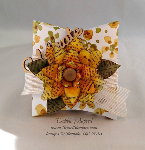 Pals Paper Crafting Card Ideas Pillowbox Autumn Mary Fish Stampin Pretty StampinUp