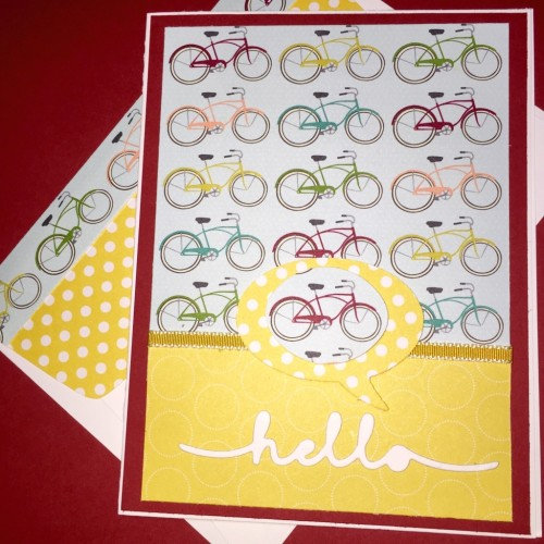 Pals Paper Crafting Card Ideas bicycle card Mary Fish Stampin Pretty StampinUp