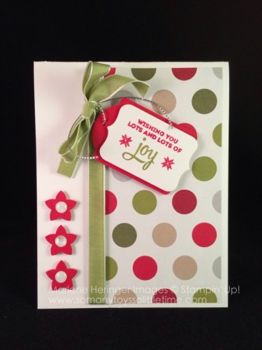 Pals Paper Crafting Card Ideas Lots of Joy Mary Fish Stampin Pretty StampinUp