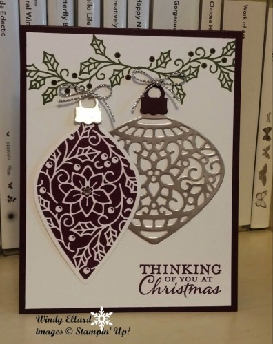 Pals Paper Crafting Card Ideas Ornaments Thinlits Mary Fish Stampin Pretty StampinUp