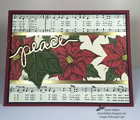 Pals Paper Crafting Card Ideas Peaceful Poinsettia Mary Fish Stampin Pretty StampinUp