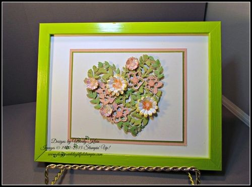 Pals Paper Crafting Card Ideas Heart Frame Mary Fish Stampin Pretty StampinUp