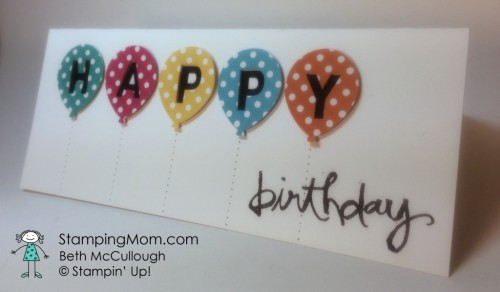 stampin up balloon birthday punch