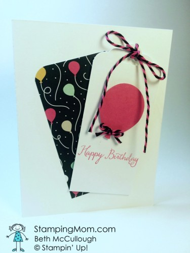 Pals Paper Crafting Card Ideas Birthday Tag Mary Fish Stampin Pretty StampinUp