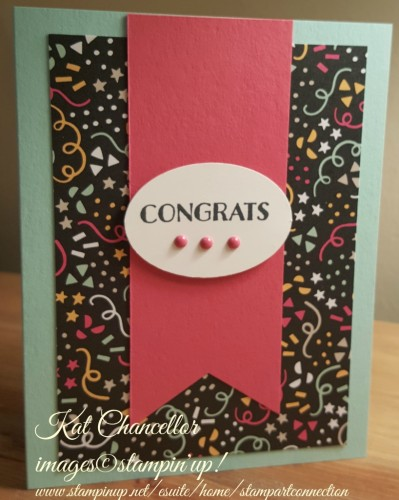 Pals Paper Crafting Card Ideas Congrats Mary Fish Stampin Pretty StampinUp