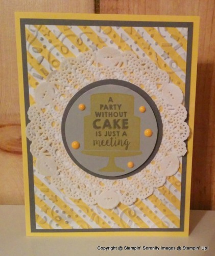 Pals Paper Crafting Card Ideas Party Wishes Mary Fish Stampin Pretty StampinUp