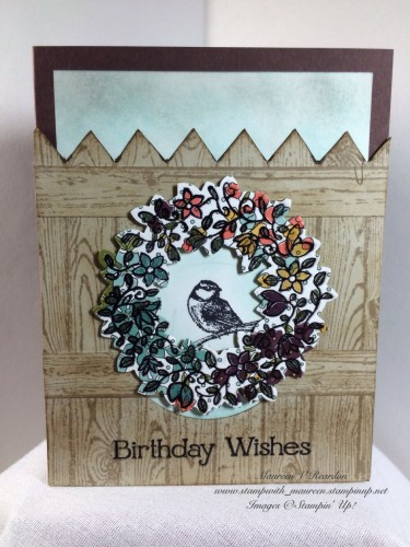 Pals Paper Crafting Card Ideas Wonderful Wreath Mary Fish Stampin Pretty StampinUp
