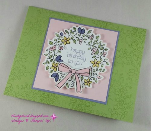 Pals Paper Crafting Card Ideas Circle of Spring Mary Fish Stampin Pretty StampinUp